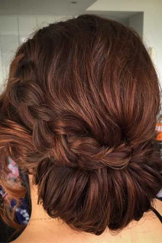 romantic wedding updos low slung braided chignon rachaelharris_hairmakeupbeauty