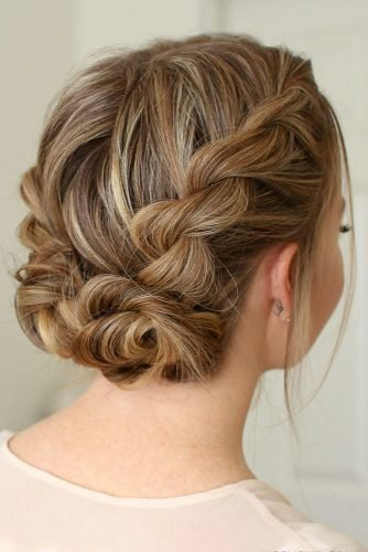 romantic wedding updos winding dutch braid wedding updo on blonde hair missysueblog