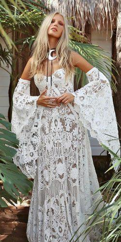 rue de seine wedding dresses boho a line sweetheart full lace floral with sleeves