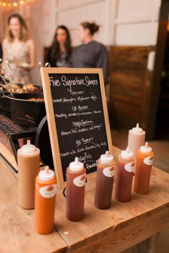 rustic barbecue bbq wedding barbecue sauces and nameplate alisandra photography