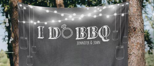 rustic barbecue bbq wedding