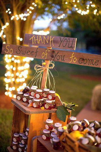 rustic barbecue bbq wedding honey jars as a gift for guests vitalic photo