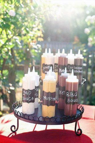 rustic barbecue bbq wedding on a black plate different sauces for a barbecue your home based mom