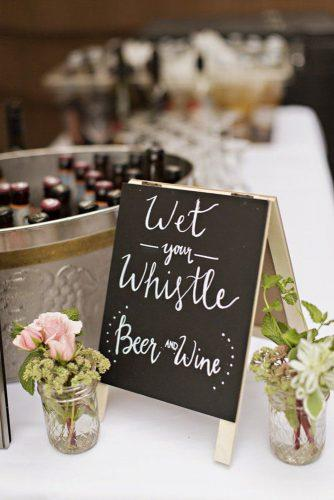 rustic barbecue bbq wedding on the bar sign and roses courtney bowlden photography