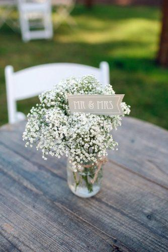 rustic barbecue bbq wedding on the table flowers gypsophila the harmons photography