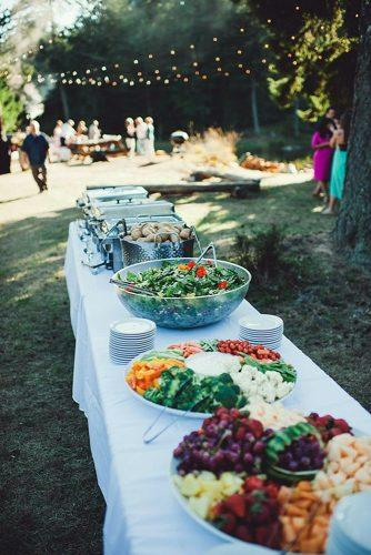 rustic barbecue bbq wedding table with vegetables and salads mireia wedding planner design via instagram