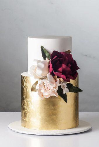 small wedding cakes style cake with gold cake ink