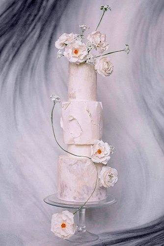 textured wedding cakes white tall with abstract paper texture and flowers lilac cake boutique via instagram
