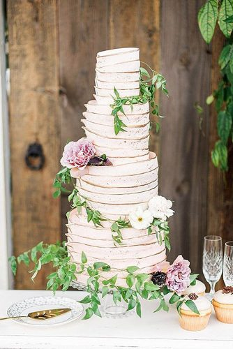 textured wedding cakes white with flowers and ruches lauren galloway via instagram