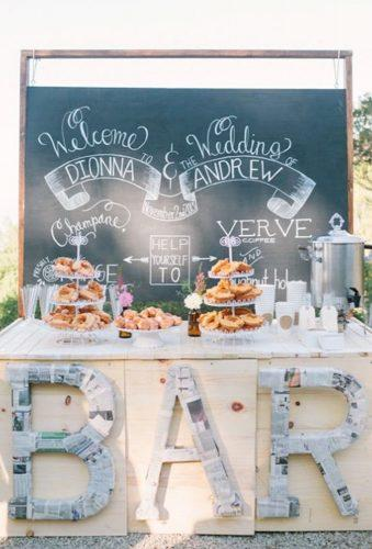 wedding dessert table ideas vintage modern wedding candy bar Kirsten Julia Photography