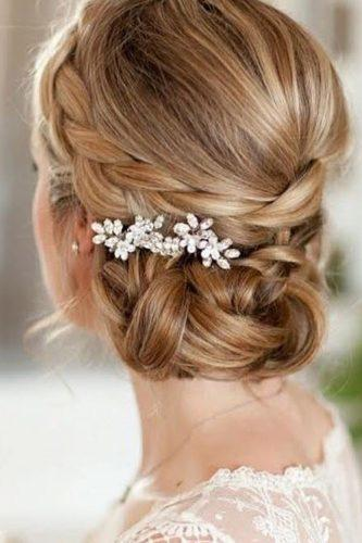 wedding hairstyles for thin braided side updo with accessories hairlabellethelabel
