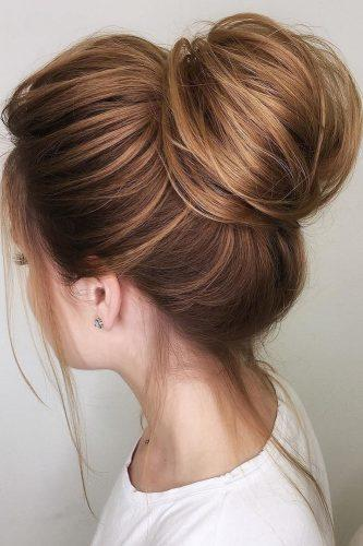 wedding hairstyles for thin hair top bun oksana sergeeva stilist