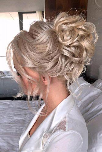 wedding hairstyles medium hair high curly blonde hair veronika_belyanko
