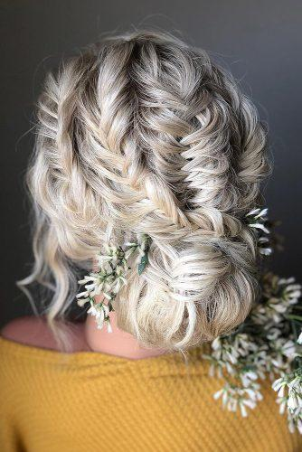 wedding hairstyles medium hair mermaid braids low updo on blonde hair styles_by_reneemarie