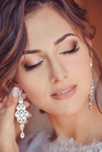 wedding makeup classic makeup with earrings pyzhik anastasia
