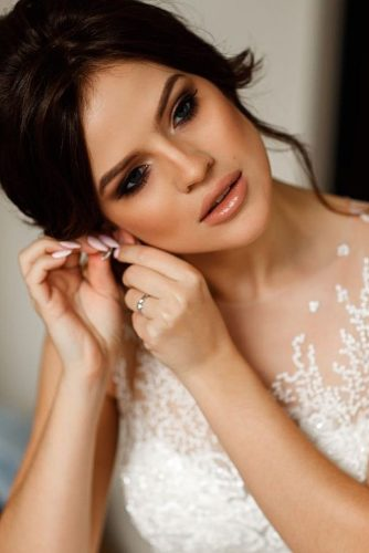wedding makeup looks elegant natural makeup witn nude lips and smoky eyes tatyanarichch