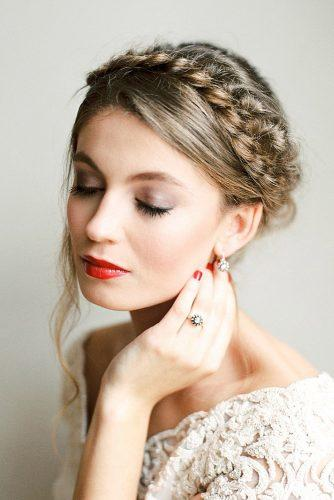 wedding makeup looks natural eyes with bright lips melanie nedelko