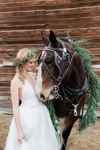 wedding pets bride with horse magnoliarouge