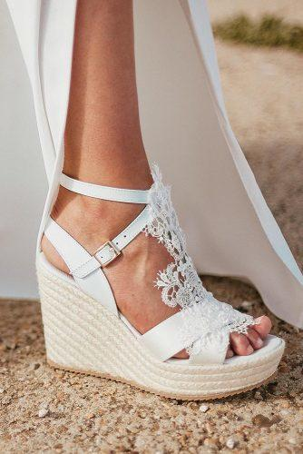 White Wedge Wedding Shoes Wedding Shoes