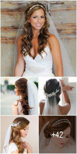 42 Wedding Hairstyles With Veil Wedding Forward