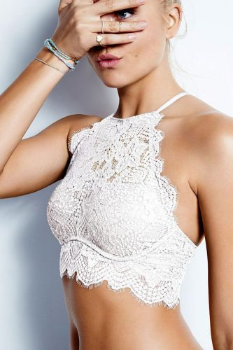 bridal bustier white lace unusual design victorias secret via instagram