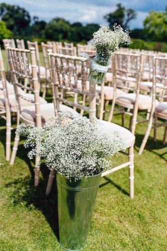 country wedding baby breath decorated witting aisle jordanna marston