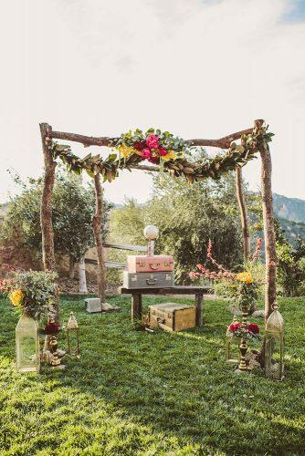 country wedding wooden vintage decorated wedding arch wild whim photography