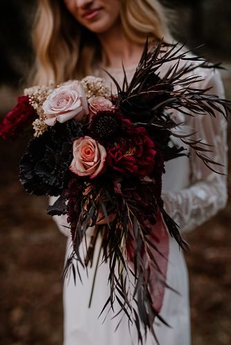 fall wedding bouquets burgundy bouquet roses