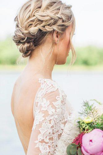 fall wedding hairstyles braided updo ashfrankestyles