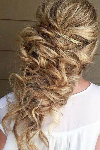 fall wedding hairstyles gold clips bighairedhannah