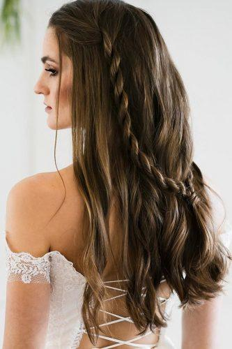 fall wedding hairstyles half up half down twisted ashfrankestyles
