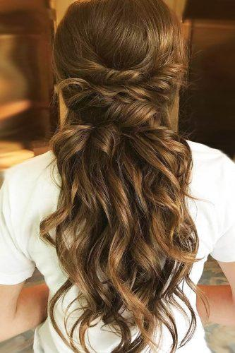 fall wedding hairstyles half up twisted bighairedhannah