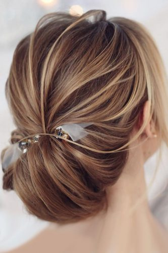 fall wedding hairstyles low updo with accessory tonyastylist