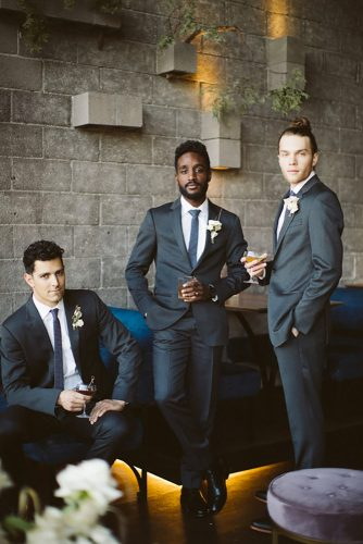 groomsmen photos stylish groomsmen Alison Vagnini Weddings