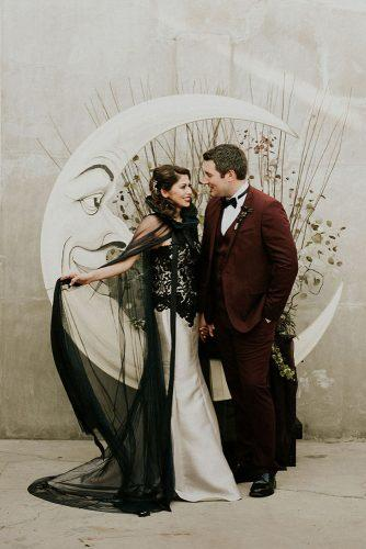 halloween wedding ideas tim burton inspired bridal couple photos and backdrop with love by georgie