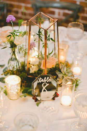 lantern wedding centerpiece ideas geometric lantern onelove photo