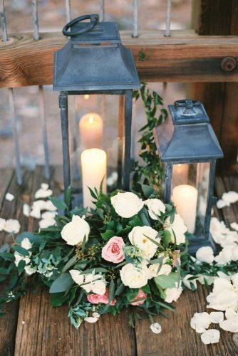 lantern wedding centerpiece ideas lanteren witn candles and rode erichmcvey