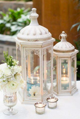 lantern wedding centerpiece ideas white lantern in centerpiece cabbageroseweddings