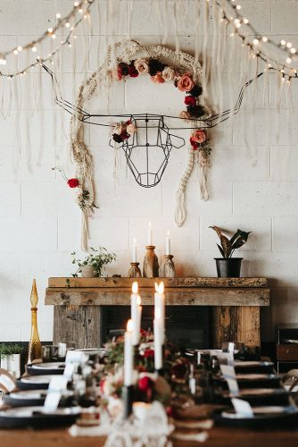 loft decorating ideas loft with white brick walls decorated in the style of a boho on the wall head of a bull of chened wire lights of flowers decorations from macrame the loft at union