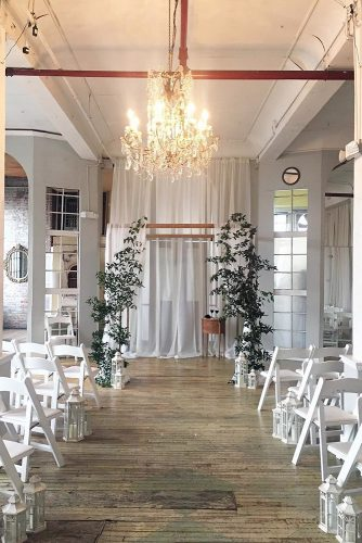 loft decorating ideas white walls white chairs lightweight fabric at the wedding ceremony in the loft anchor & lace photography via instagram