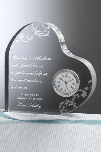 personalized wedding gifts Dear Mom Personalized Heart Clock