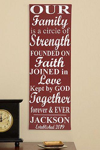 personalized wedding gifts Our Family Circle Canvas