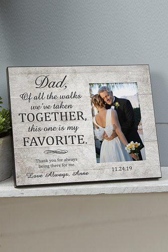 personalized wedding gifts Wedding Picture Frame For Dad