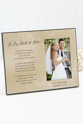 personalized wedding gifts Wedding Picture Frame To My Parents
