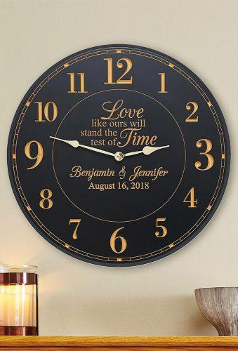 personalized wedding gifts clock with date