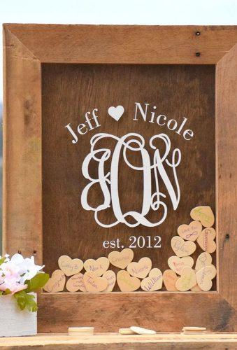 personalized wedding gifts heart in frame