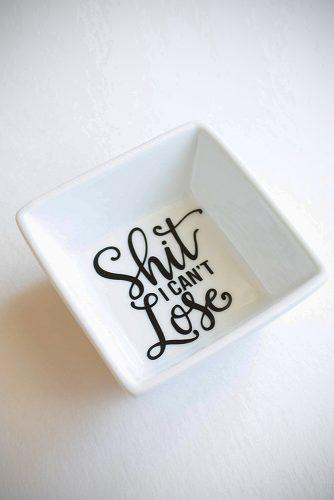 personalized wedding gifts i cant lose ring dish