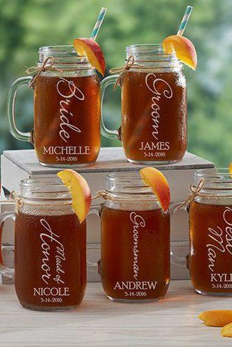 personalized wedding gifts interesting things with names mason jar pmallgifts via instagram
