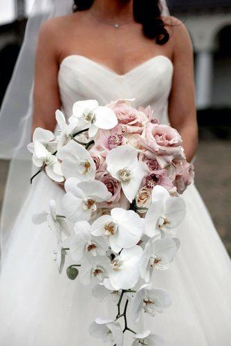 pink wedding bouquets with roses and white orchids mariana flowers
