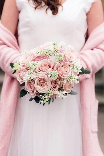 pink wedding bouquets with roses jen marino photography